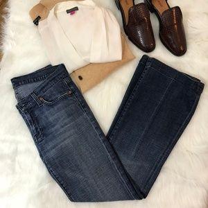 RARE 7FAM Dojo Argyle flare jeans 28